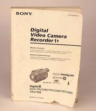 Sony Original Mode D'Emploi Pour SONY dcr-trv238e/238e/340e/738e 03812