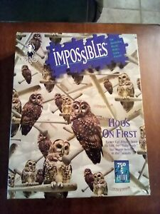 Impossibles the borderless puzzle with 5 extra pieces 755 total Hoo's on First
