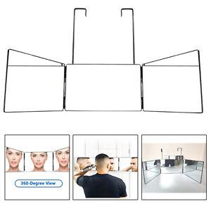 3 Way Mirror Portable Trifold Mirror DIY Haircut Tool Make-Up Mirror Glass
