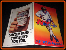 1986-87 NEW YORK EXPRESS BUDWEISER BEER POCKET SCHEDULE FREE SHIPPING
