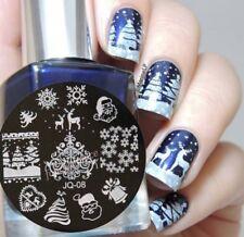 Arte de uñas imagen Planchas para Estampar placa Decoracion Navidad Renos árboles JQ08