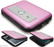 iLuv Powered Travel Speaker Protective Zipper Case for iPad 2 3 4 Tablets PINK