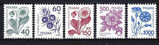 POLAND 1989 **MNH SC#2917/21 PLANTS