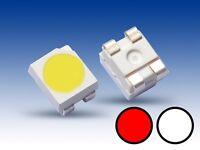 S668 - 20 Stück DUO Bi-Color LED SMD 3528 weiß / rot Lichtwechsel Loks Wendezug