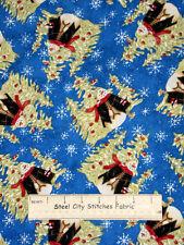 Riverwoods Winter Magic Christmas Snowman 100% Cotton Fabric Yard Snowflake Blue