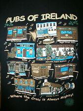 IRELAND PUBS T SHIRT Irish Bar Craic Matt Malloys Quays Fox's John Mulligan