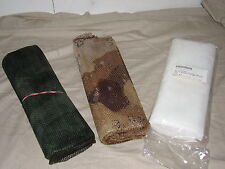 woodland desert snow lot of 3 camo netting 5ft X 8ft ghillie mesh camouflage