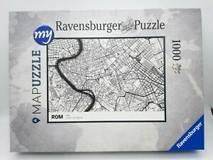 1000 Pieces Puzzle - My Mapuzzle City Map - Rome / Italy - Rarity