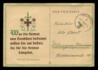 WW2 WWII Germany 3rd Reich Slogan Postcard Cover German Hitler Soldier Feldpost