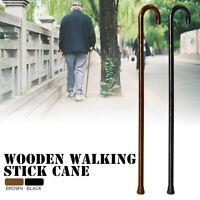 92CM Walking Stick Cane Wooden Non-slip Rubber Crook Handle Sticks Tool Sturdy