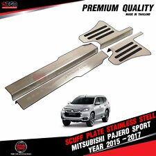 Stainless Steel Scuff Plate Sill Cover Mitsubishi Montero Pajero Sport 2015-2018