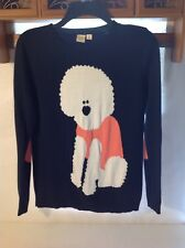 Yellow Bird S Unstandard Poodle Sweater Dog Novelty Pullover Anthropologie