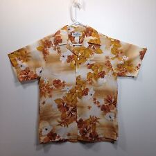 Genuine Hawaiian Aloha Shirt - Hukilau Fashions - M - Lightweight, golden browns