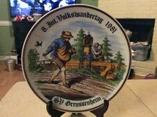 """Kayla Made In GDR German Plate """"8. Int. Volkswandertag 1981, SD Gruessenheim"""""""