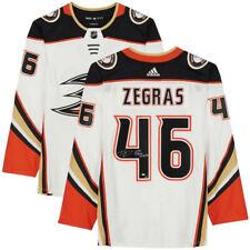 """Trevor Zegras Dédicacé """" NHL Debut 2/20/21 """" Canards Authentique Jersey Fans Le"""