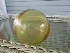"Antique 12"" Amber Glass Fishing Float"