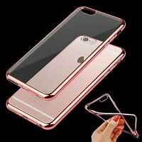 Ultra Thin Rose Gold Transparent Soft Silicone Gel Case Shell For iPhone 7 Plus
