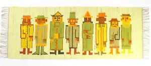 A Polish folk art wall hanging / rug Postacie 1970's New old stock