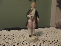 VINTAGE Porcelain Colonial Victorian Male Man Figurine Hand Painted Japan 4 3/4""