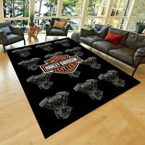 Harley Davidson 28 Rug, Fan Carpet, NonSlip Floor Carpet,Teen's Rug,Area Rug,