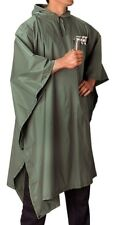 Tactical Waterproof Rain Poncho Camo Ripstop Military Hooded Cover