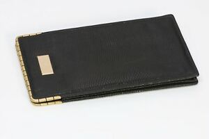 Vintage Tiffany & Co Black Lizard 18K Gold Corners Eyeglasses Phone Case