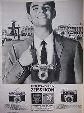 PUBLICITÉ PRESSE 1966 FIER D'AVOIR UN ZEISS IKON CONTAFLEX CONTESSA -ADVERTISING
