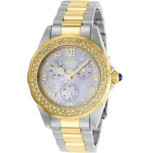 Invicta Angel 28437 Women's Day Date Analog Mother of Pearl Roman Numeral Watch