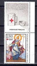 FRANCE TIMBRE CROIX ROUGE AVEC VIGNETTE 2853 ** MNH D IMAGERIE DE METZ - 1993