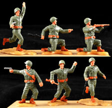 Timpo 2nd Series WWII U.S. Infantry - 6 in 6 Poses - 1970s toy soldiers