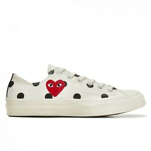 PLAY COMME DES GARCONS x CONVERSE 'polka dot red heart chuck taylor all star 7
