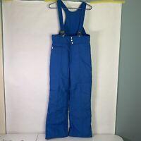 Snuggler Vintage Mens ski bib overalls size M black zipper fly and pocket