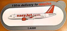 "EASYJET A320, ""150th Delivery"" Sticker, Aufkleber, Neu / New, TOP & SELTEN !!!"