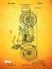 "6 Harley Davidson Motorcycle Patent Prints Art Poster Old Look 8"" x 10"""