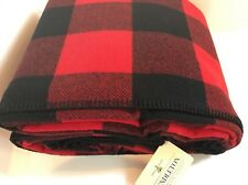 NWT PENDLETON WOOL BLANKET KING BLANKET WASHABLE RED ROB ROY TARTAN Made in USA