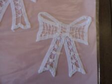 BATTENBURG LACE INSERTS.  SET OF TWO BOWS.   NEW IN PACKAGE. CLOTHES, CRAFTS.