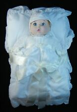 Gerber Baby 1981 Bisque Baby Dol, In Early American Christening Gown Coa