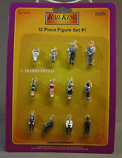 MTH 12 PC FIGURE SET #1 O GAUGE train people sitting standing 30-11016 NEW