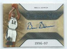 2007-08 SP Rookie Threads Bruce Bowen Scripted in Time AUTO AUTOGRAPH SPURS