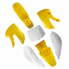 Dirt Bike Plastic Body Fairing Yellow White KAWASAKI KLX110 KX65 Suzuki DRZ110