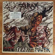 HIRAX Hate Fear & Power LP VINYL RECORD 1986 Metal Blade - MINT