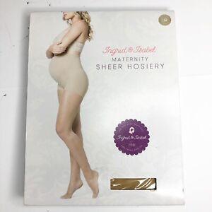 Ingrid & Isabel Women's Maternity Sheer Nylon Hosiery Pantyhose Nude #1514 Small