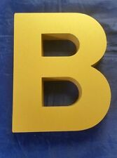 "Cast - Gold Letter ""B"" 5.75"" x 4.75"" x .75"" Thickness - Any Letter, Size & Shape"