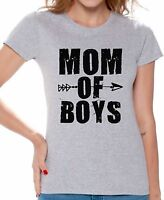 Mom Shirt Mom of boys T Shirt Black Great Gift For Mother's Day Mom Life