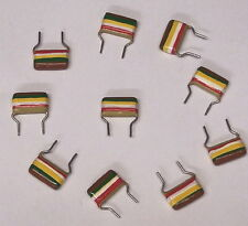 10 pcs LOT - 0.15uf Mullard capacitor vintage tropical fish audio cap 250V .15uF
