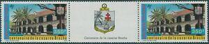French Polynesia 1987 Sc#C224,SG506 350f Broche Army Barracks tab pair MNH