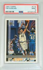 1997-98 Topps #115 Tim Duncan PSA 9 MINT RC Rookie Basketball Card Spurs