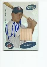 JASON KUBEL Autographed Signed 2003 Bowman's Best BAT card Minnesota Twins COA