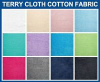 """Terry Cloth Cotton Fabric (16oz) - 58"""" Wide - Sold By The Yard"""