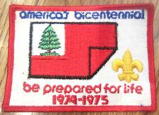 Boy Scouts Uniform Patch  Bsa America'S Bicentennial Be Prepared For Life 1974-5